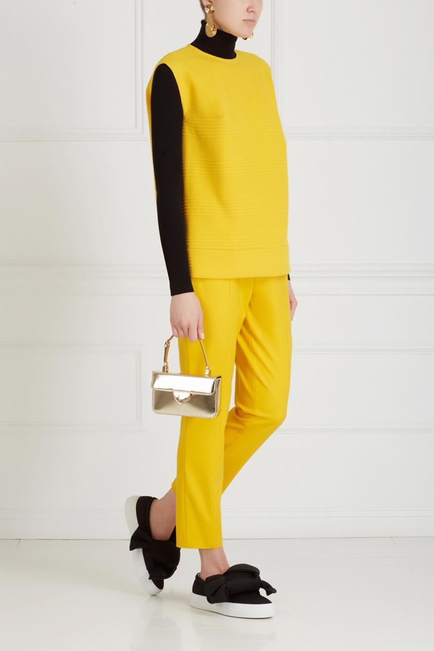 Фото 3 - Хлопковые брюки от Chapurin желтого цвета