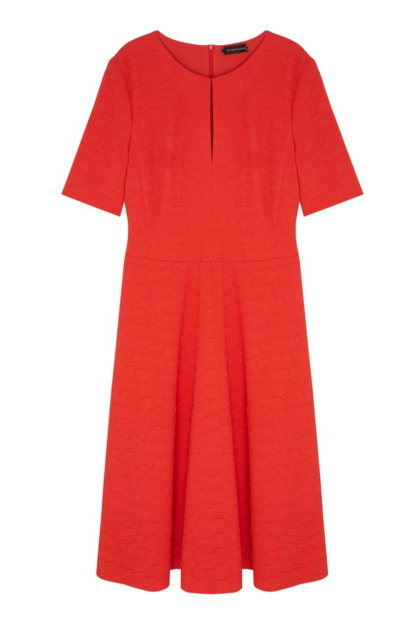Фото - Однотонное платье от Chapurin красного цвета