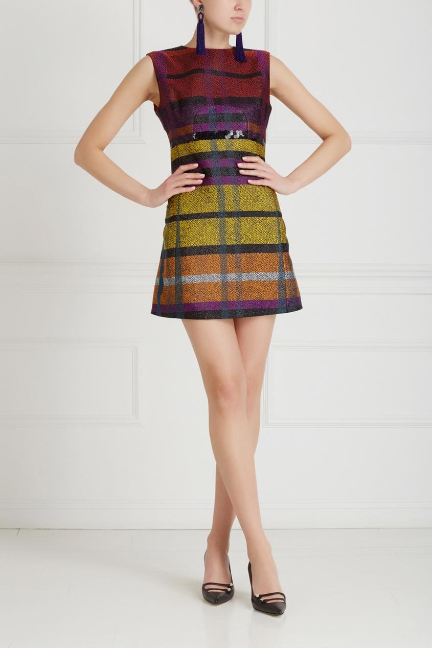 Фото 5 - Платье с вышивкой от Chapurin цвет multicolor