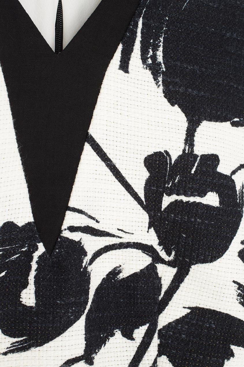 Фото 2 - Кроп-топ от Chapurin черно-белого цвета