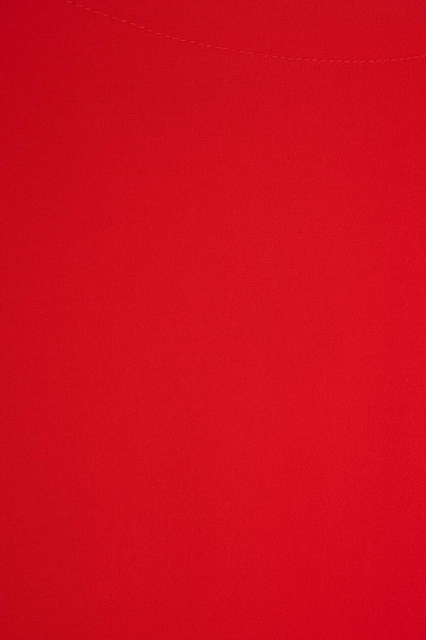 Фото 2 - Однотонная туника от Chapurin красного цвета