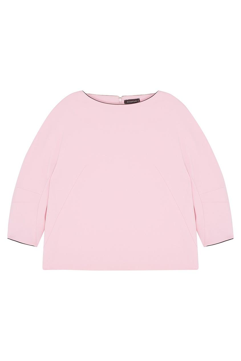 Фото - Однотонная блузка от Chapurin розового цвета
