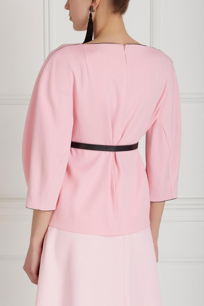 Фото 6 - Однотонная блузка от Chapurin розового цвета