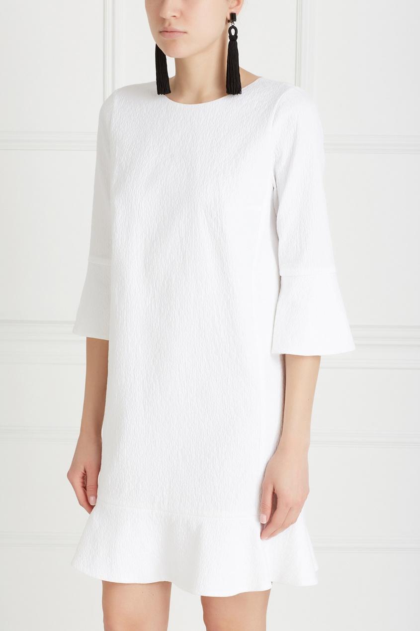 Фото 3 - Хлопковое платье от Chapurin белого цвета