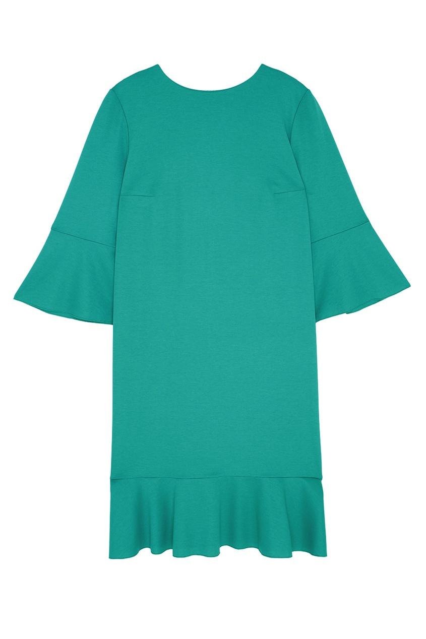 Фото - Хлопковое платье от Chapurin зеленого цвета