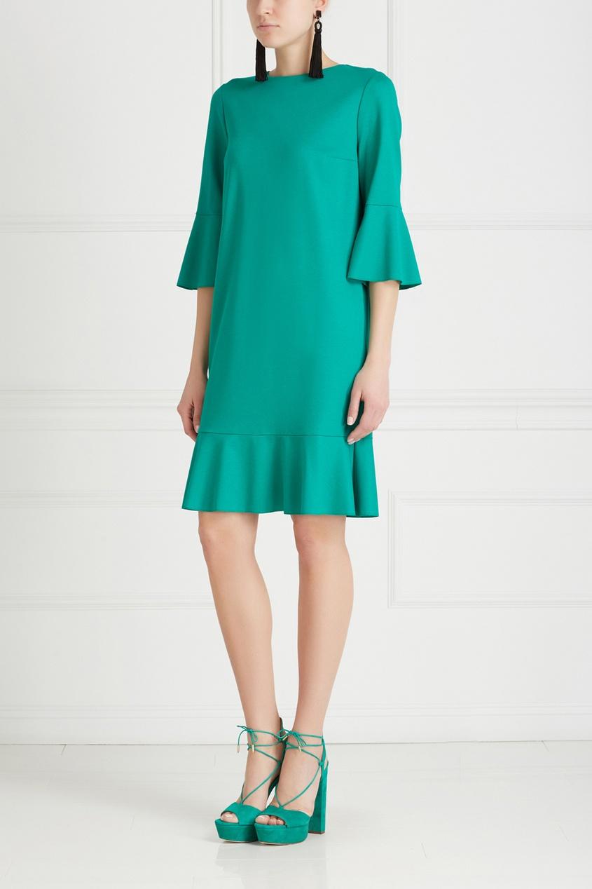 Фото 3 - Хлопковое платье от Chapurin зеленого цвета