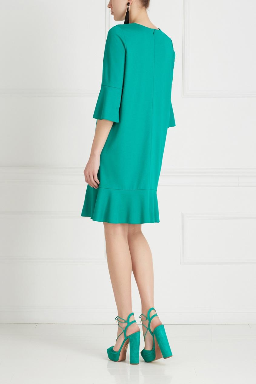 Фото 4 - Хлопковое платье от Chapurin зеленого цвета