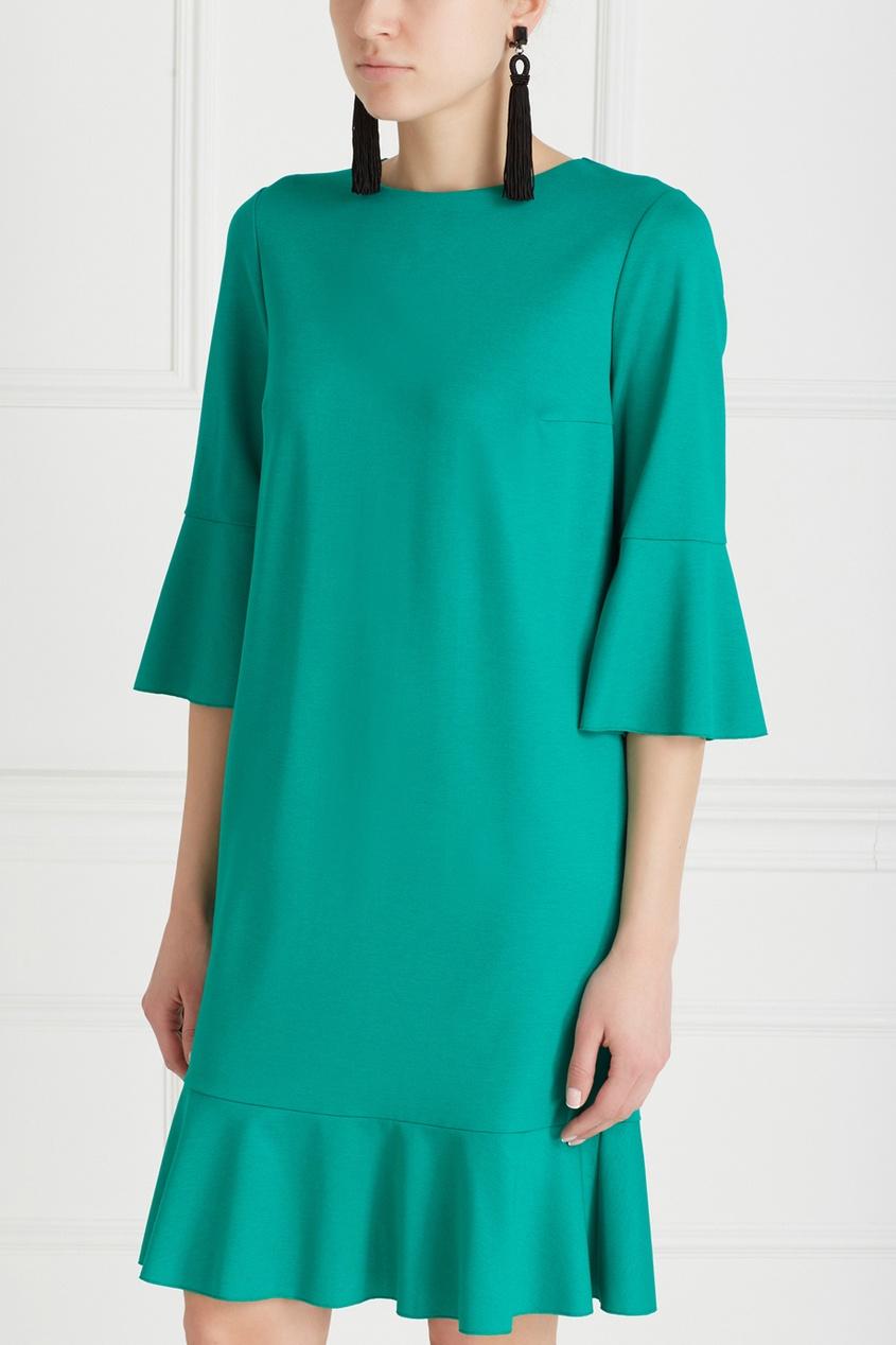 Фото 5 - Хлопковое платье от Chapurin зеленого цвета
