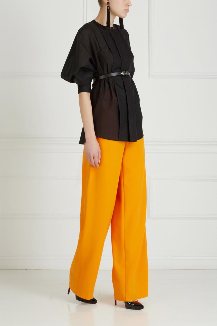 Фото 3 - Однотонные брюки от Chapurin оранжевого цвета