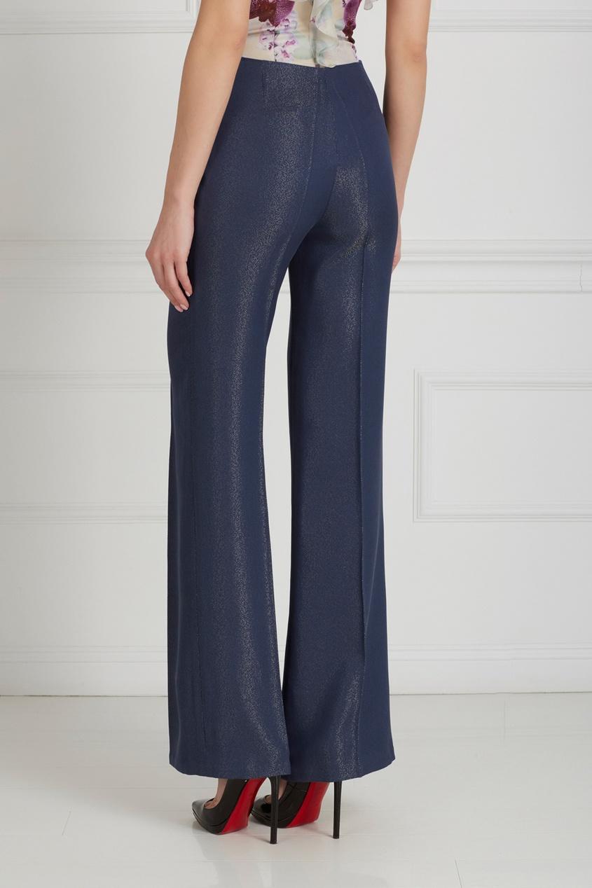 Фото 6 - Однотонные брюки от Chapurin синего цвета