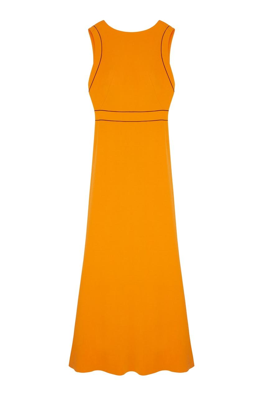 Фото - Платье в пол от Chapurin оранжевого цвета