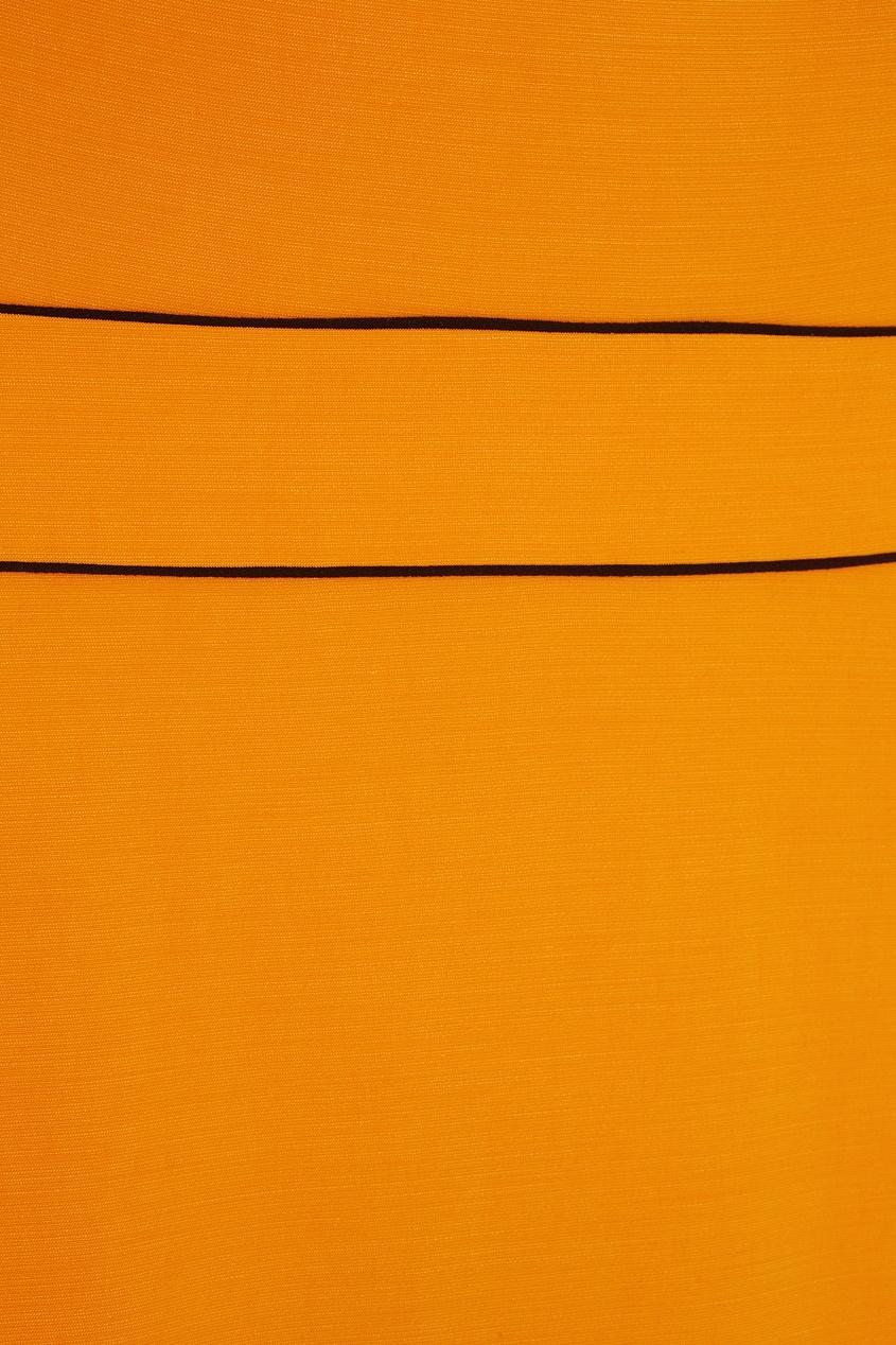 Фото 2 - Платье в пол от Chapurin оранжевого цвета
