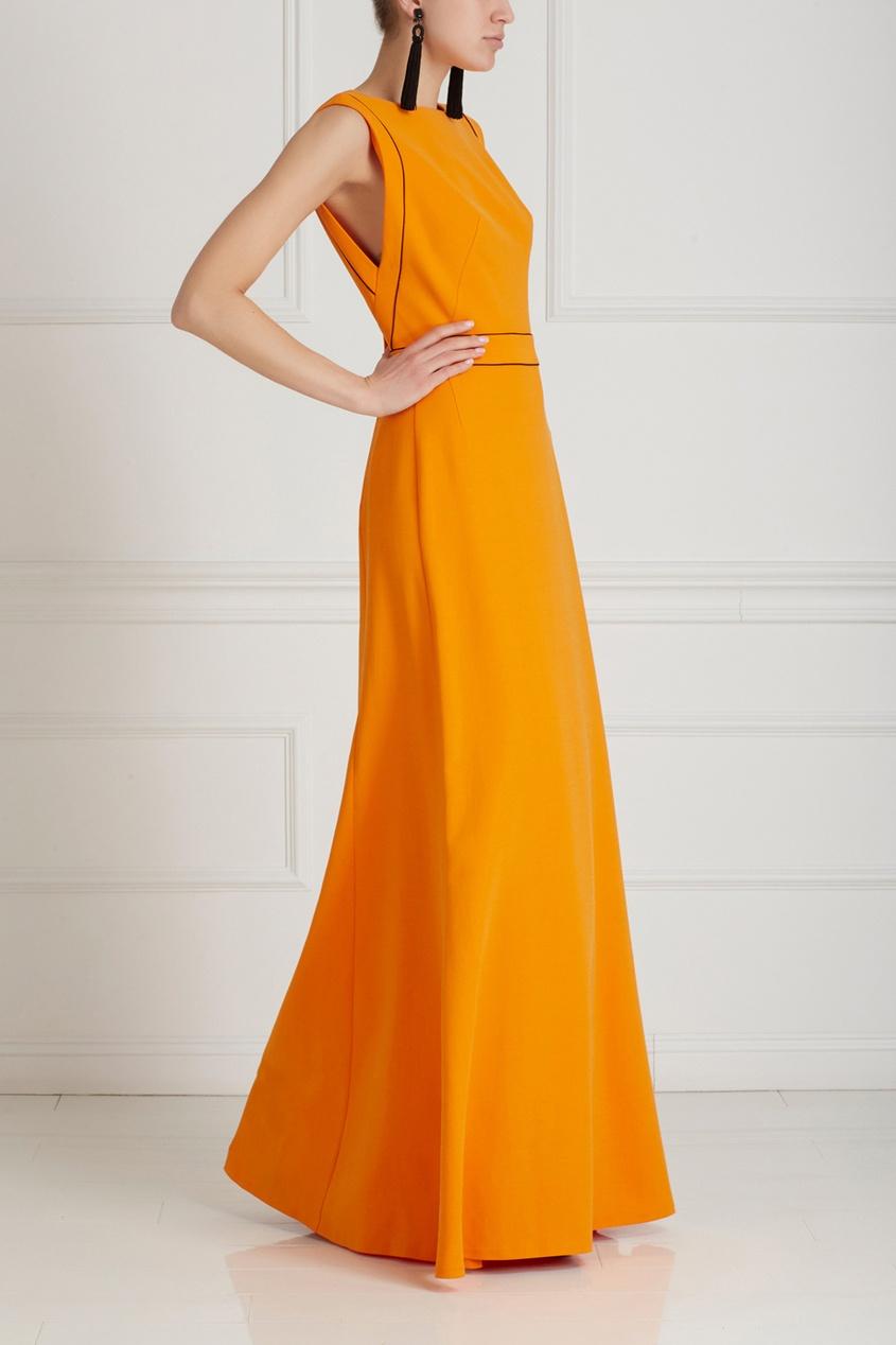 Фото 3 - Платье в пол от Chapurin оранжевого цвета