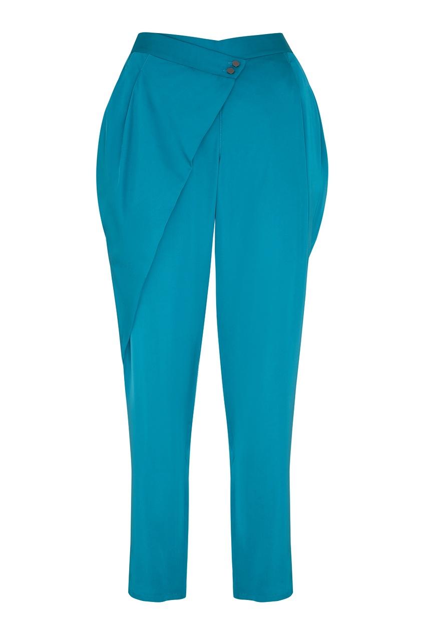 Фото - Однотонные брюки от Chapurin синего цвета