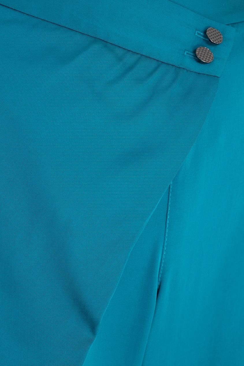 Фото 2 - Однотонные брюки от Chapurin синего цвета