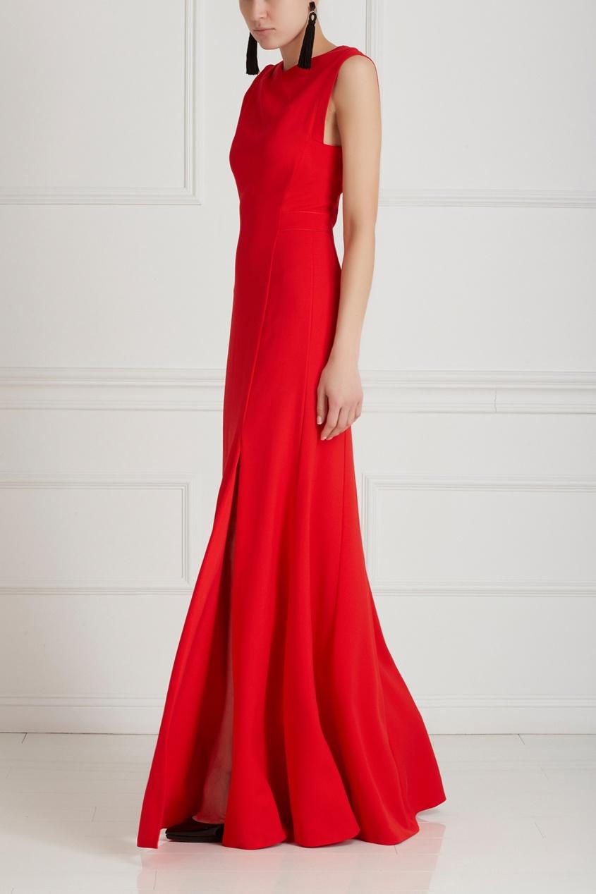 Фото 3 - Платье от Chapurin красного цвета