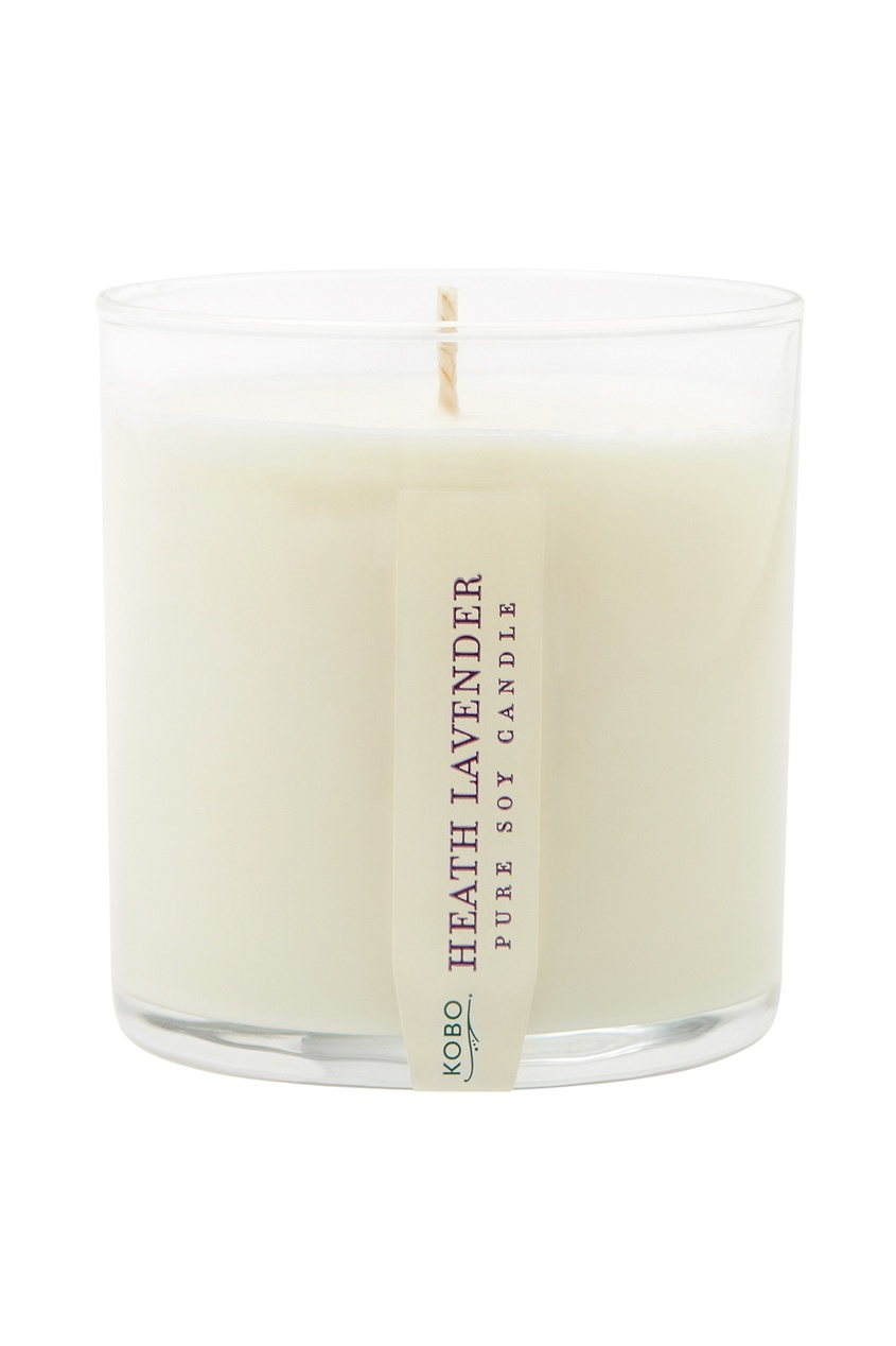 Kobo Candles Ароматическая свеча Health Lavender 240гр. свеча корица колонна 80 60 мм фитиль парафиныч