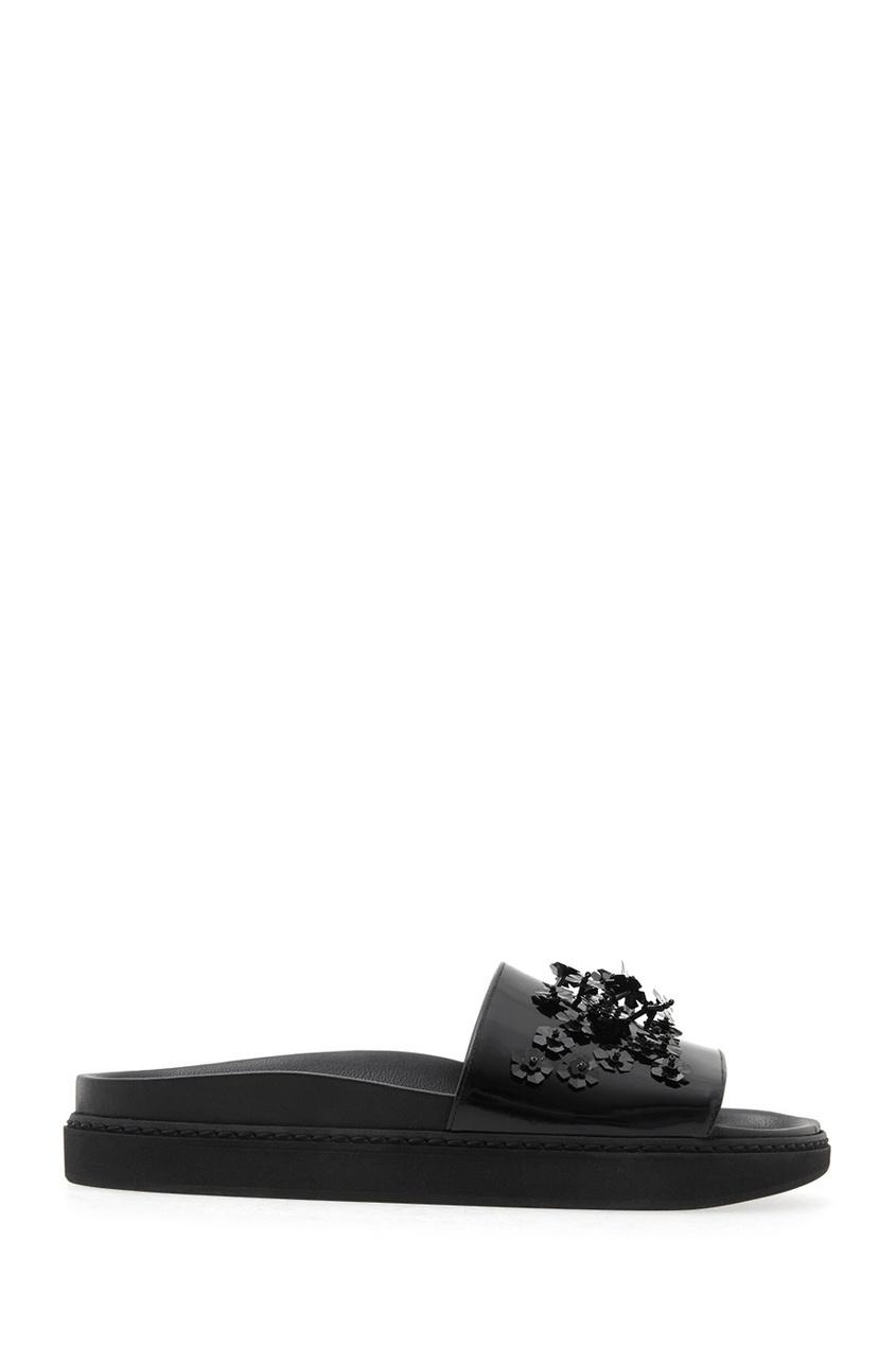 Кожаные сандалии с вышивкой