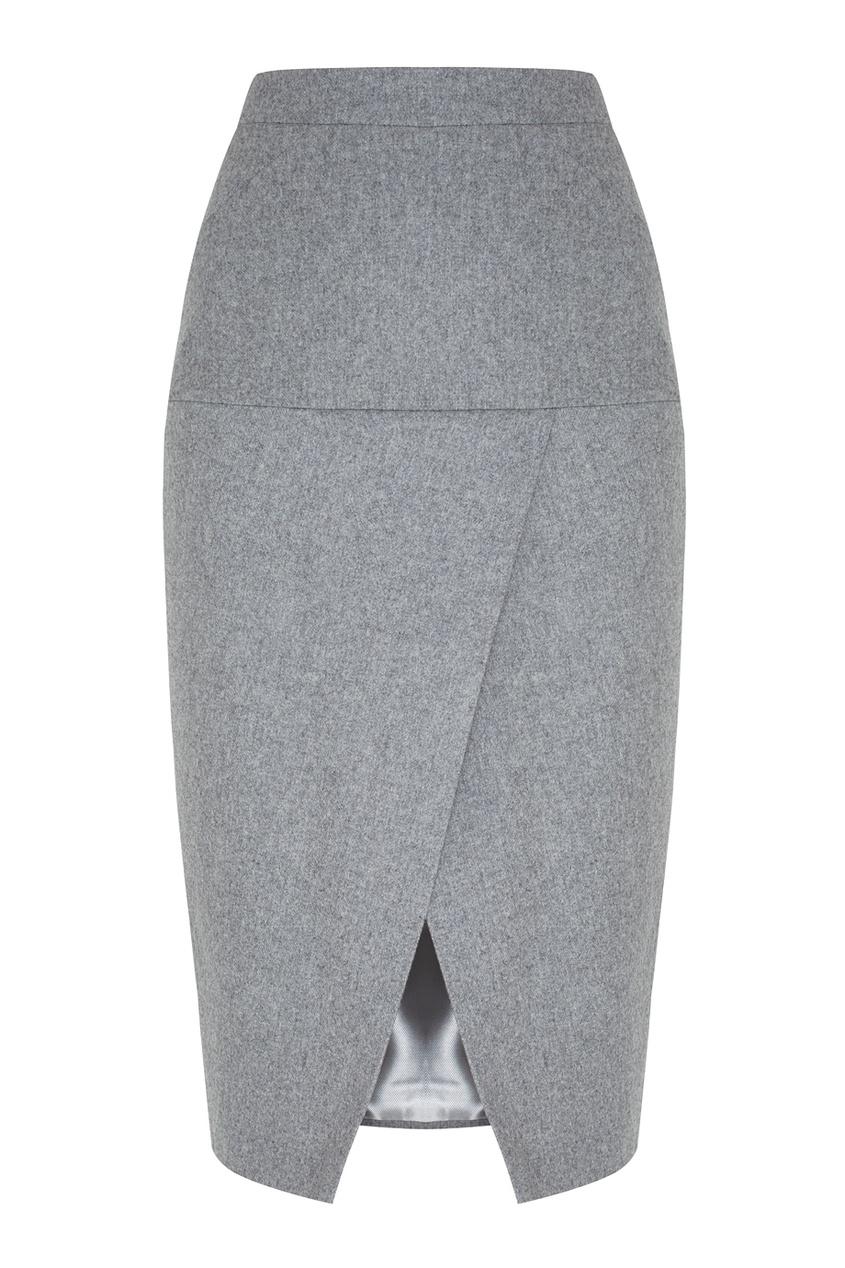Шерстяная юбка-карандаш