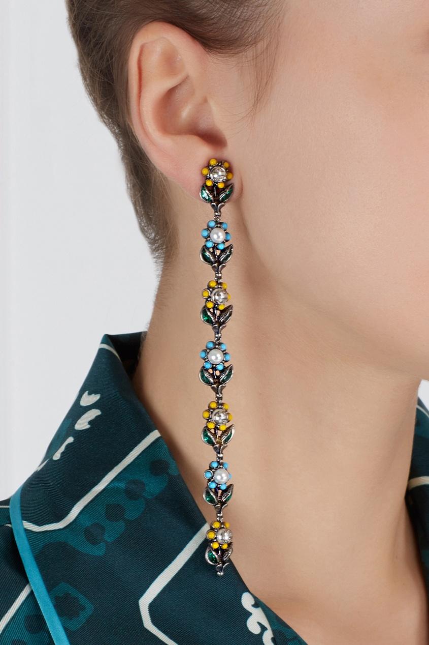 Gucci Серьги с кристаллами