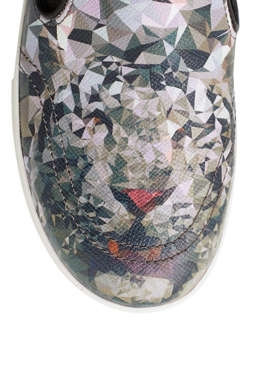 Фото 4 - Кожаные слипоны Jam фиолетового цвета