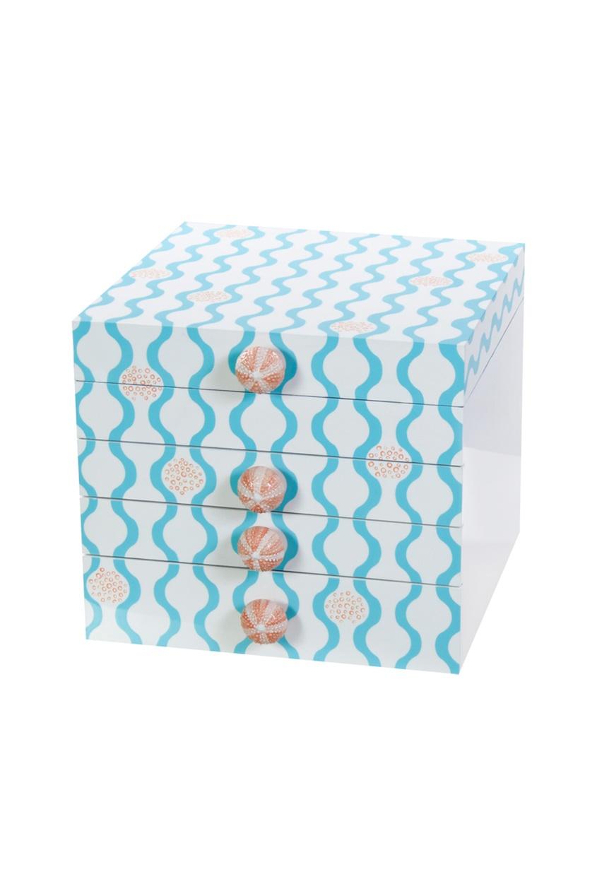 Маленькая шкатулка для украшений Blue Jellyfish