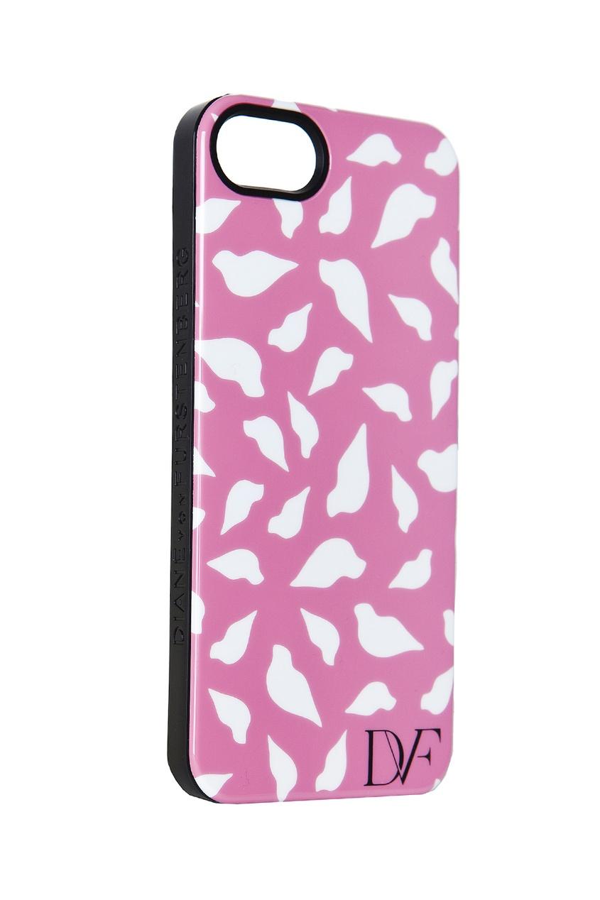 Чехол для iPhone 5 Lip Silhouette Pink