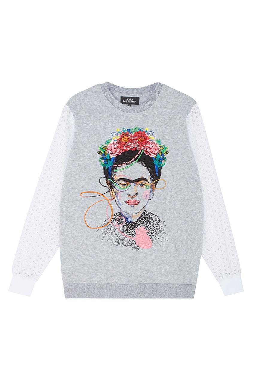 Свитшот с вышивкой Frida