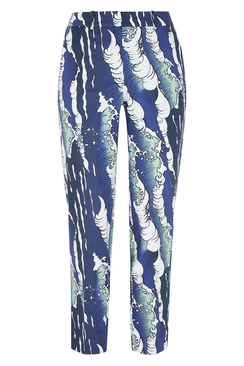 Фото - Хлопковые брюки от Alena Akhmadullina синего цвета