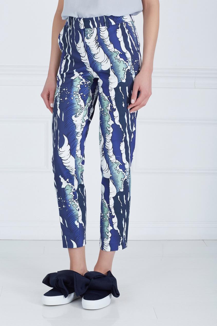 Фото 4 - Хлопковые брюки от Alena Akhmadullina синего цвета