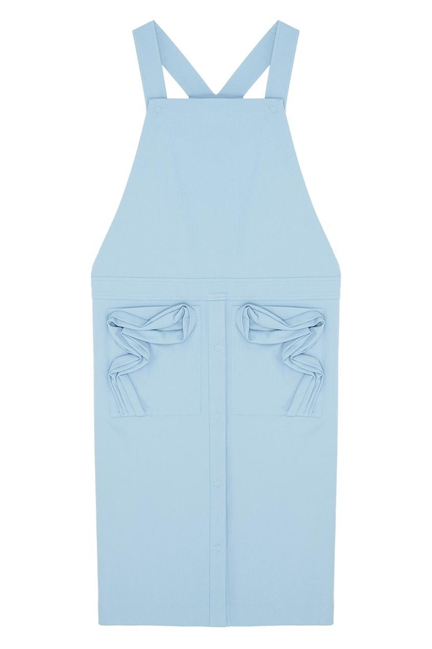 Фото - Хлопковое платье от Alena Akhmadullina голубого цвета