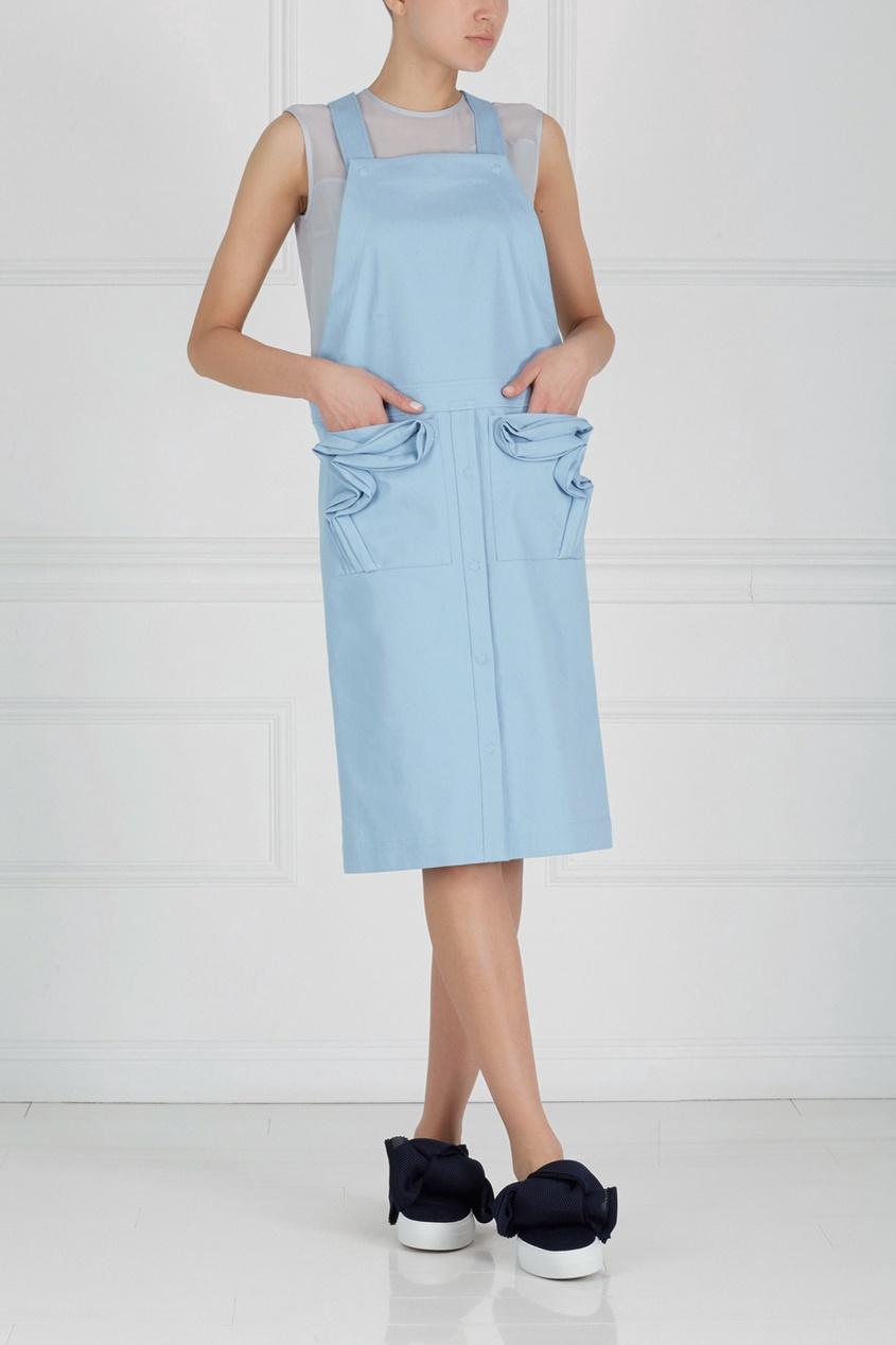 Фото 3 - Хлопковое платье от Alena Akhmadullina голубого цвета