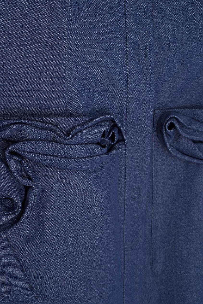 Фото 2 - Хлопковое платье от Alena Akhmadullina синего цвета