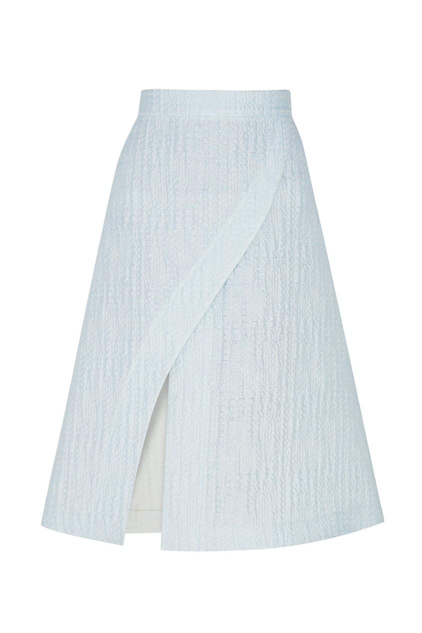 Фото - Хлопковая юбка от Alena Akhmadullina голубого цвета
