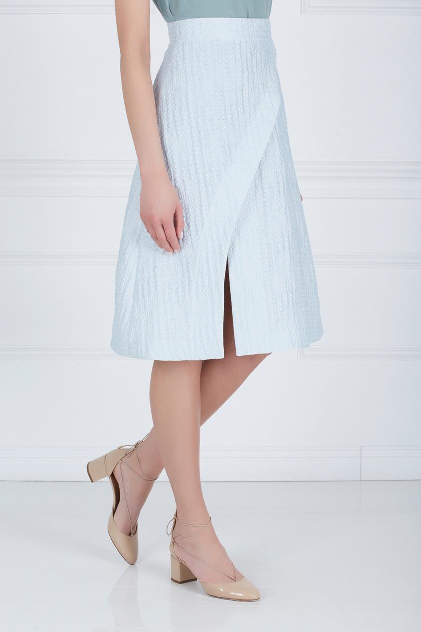 Фото 3 - Хлопковая юбка от Alena Akhmadullina голубого цвета