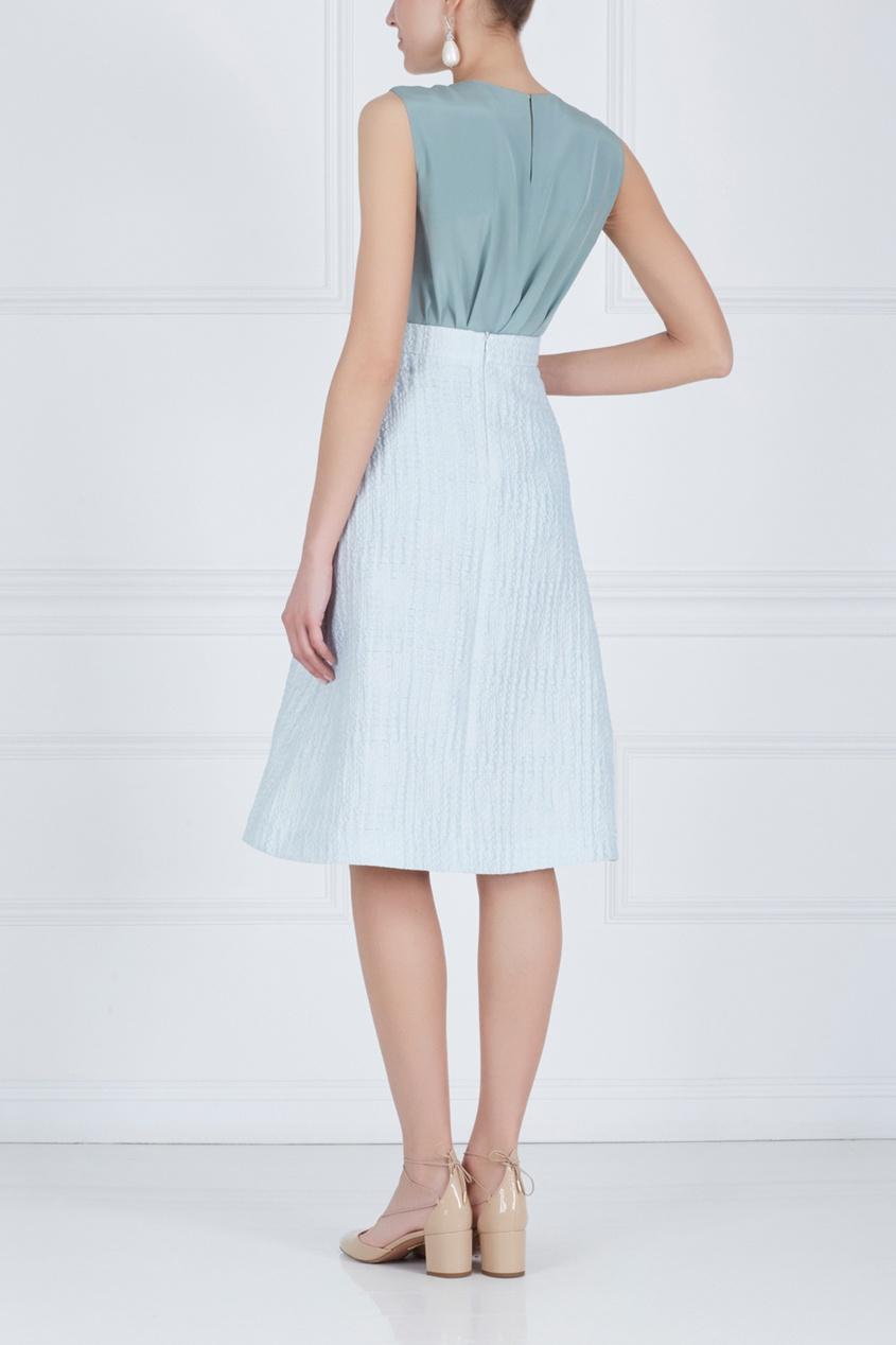 Фото 5 - Хлопковая юбка от Alena Akhmadullina голубого цвета