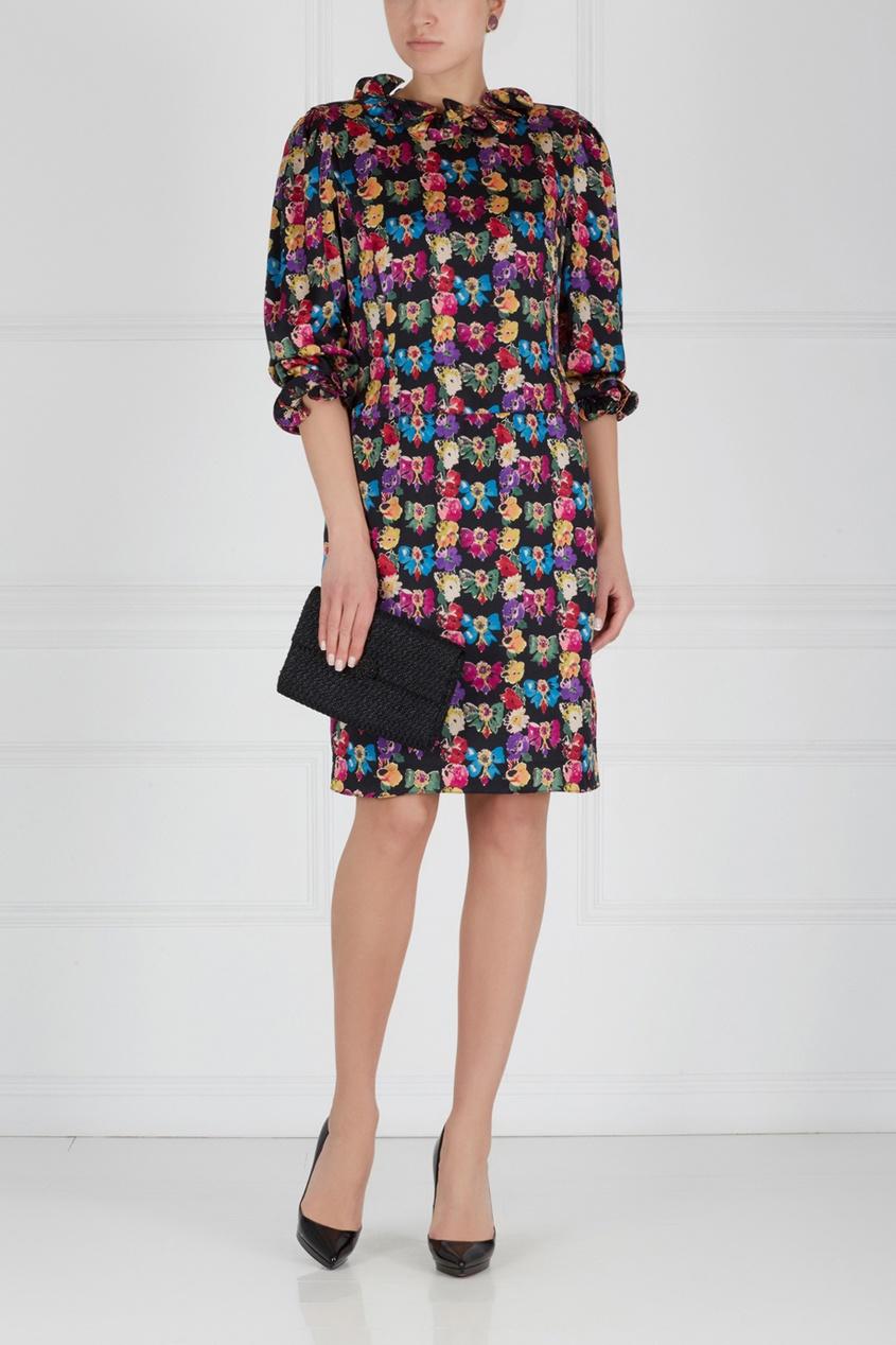 Louis Feraud Vintage Шелковое платье (80-е) louis feraud vintage металлические клипсы с камнем 80 е