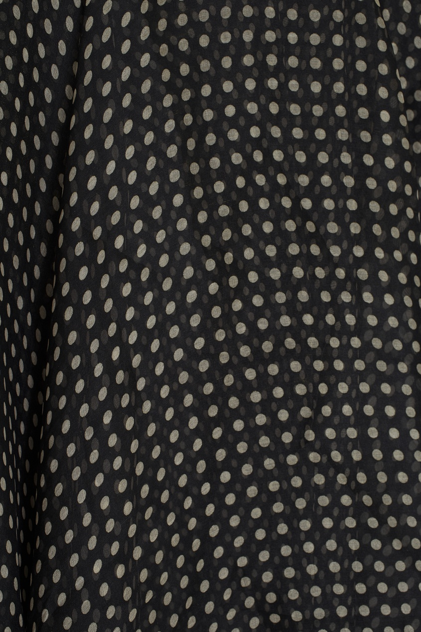 Фото 6 - Шелковая юбка (90-е) от Gianni Versace Vintage черно-белого цвета