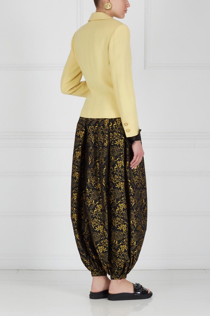 Фото 3 - Жакет (90-е) от Versus Gianni Versace Vintage желтого цвета