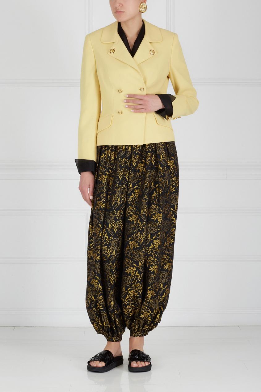 Фото 4 - Жакет (90-е) от Versus Gianni Versace Vintage желтого цвета