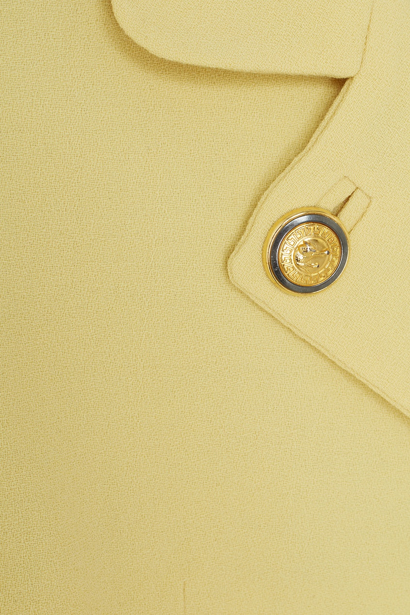 Фото 6 - Жакет (90-е) от Versus Gianni Versace Vintage желтого цвета