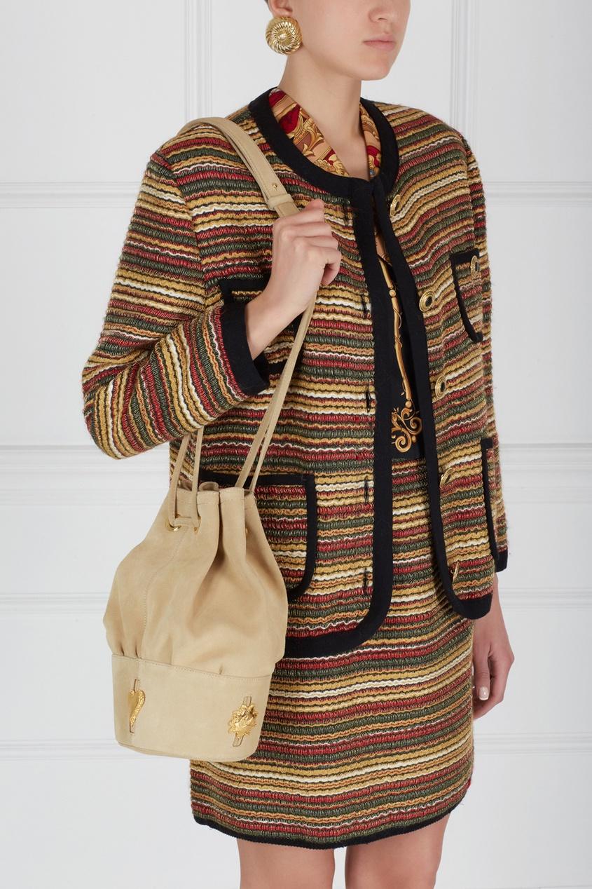 Christian Lacroix Vintage Замшевая сумка (90-е) магия золота магия золота колье с аметистом 120471