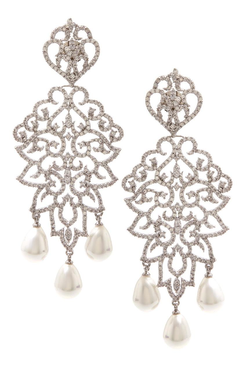 Серьги с кристаллами Royal Statemen