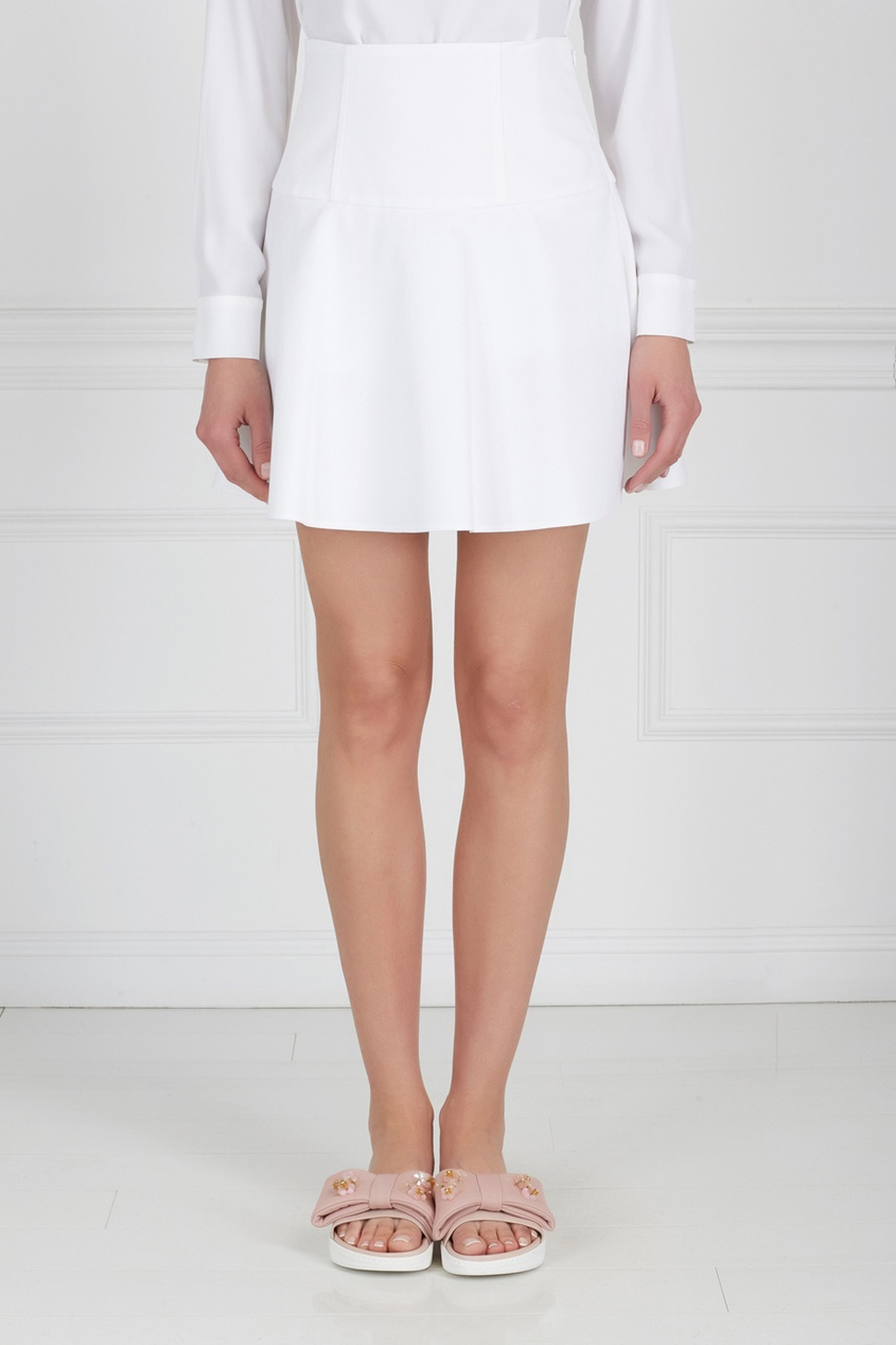 Купить со скидкой Хлопковая юбка-мини