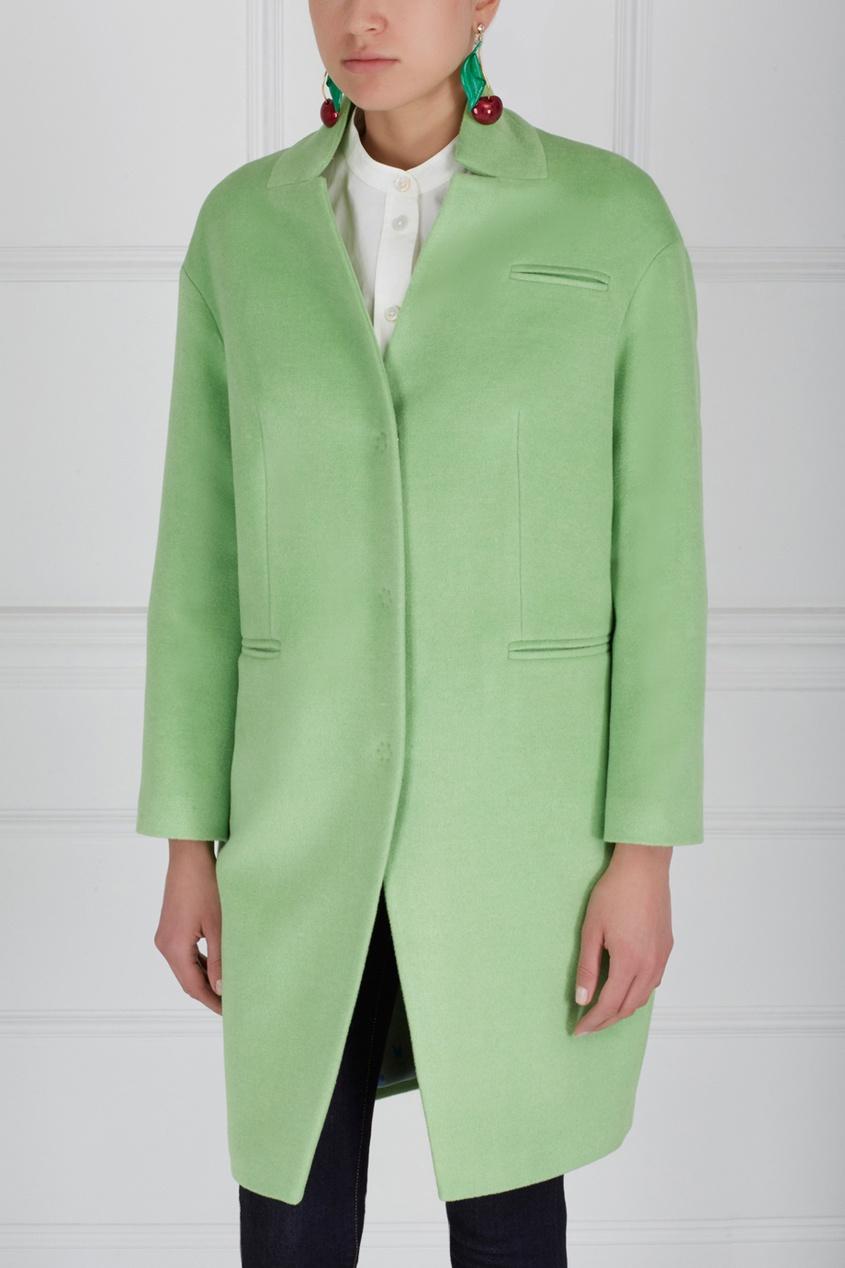 Фото 2 - Шерстяное пальто от Victoria Andreyanova зеленого цвета