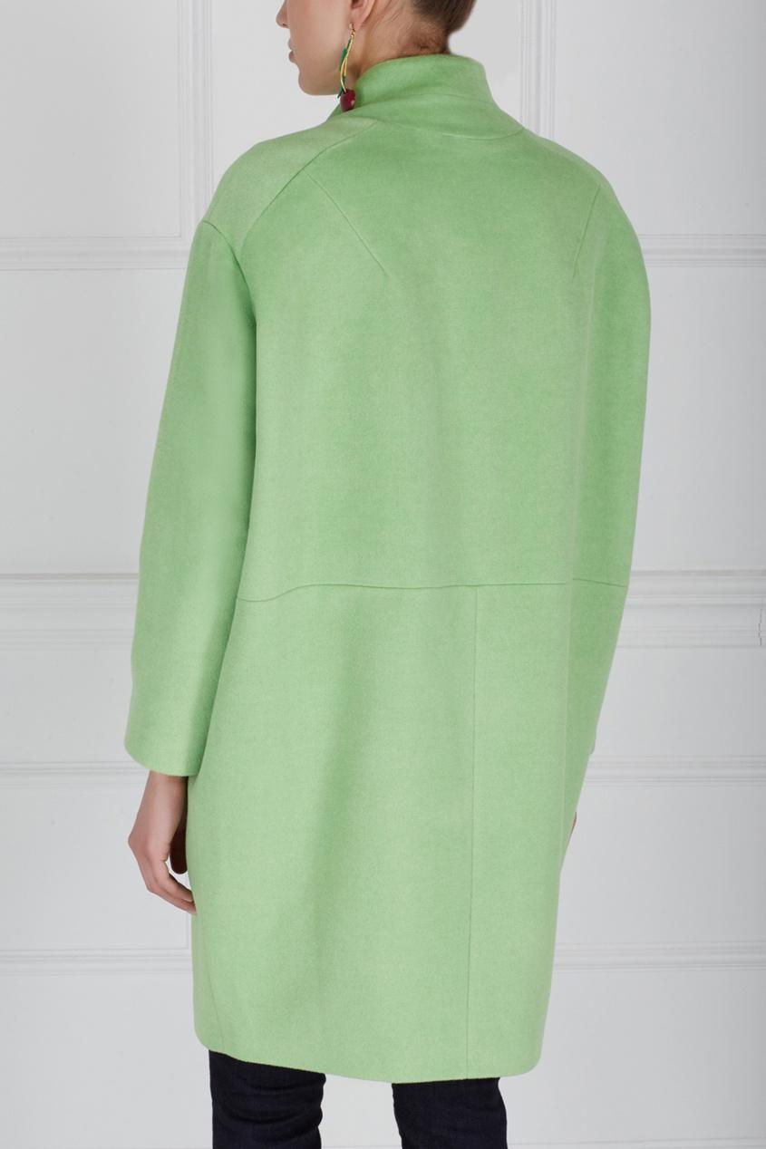 Фото 3 - Шерстяное пальто от Victoria Andreyanova зеленого цвета