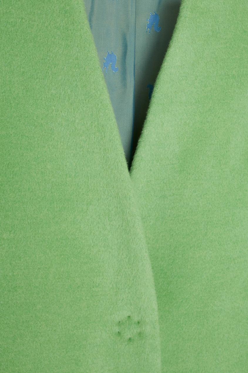 Фото 6 - Шерстяное пальто от Victoria Andreyanova зеленого цвета
