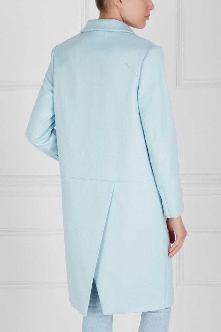 Фото 4 - Шерстяное пальто от Victoria Andreyanova голубого цвета