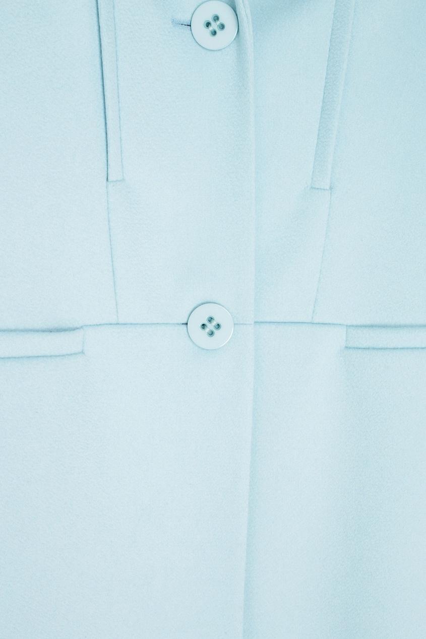 Фото 6 - Шерстяное пальто от Victoria Andreyanova голубого цвета
