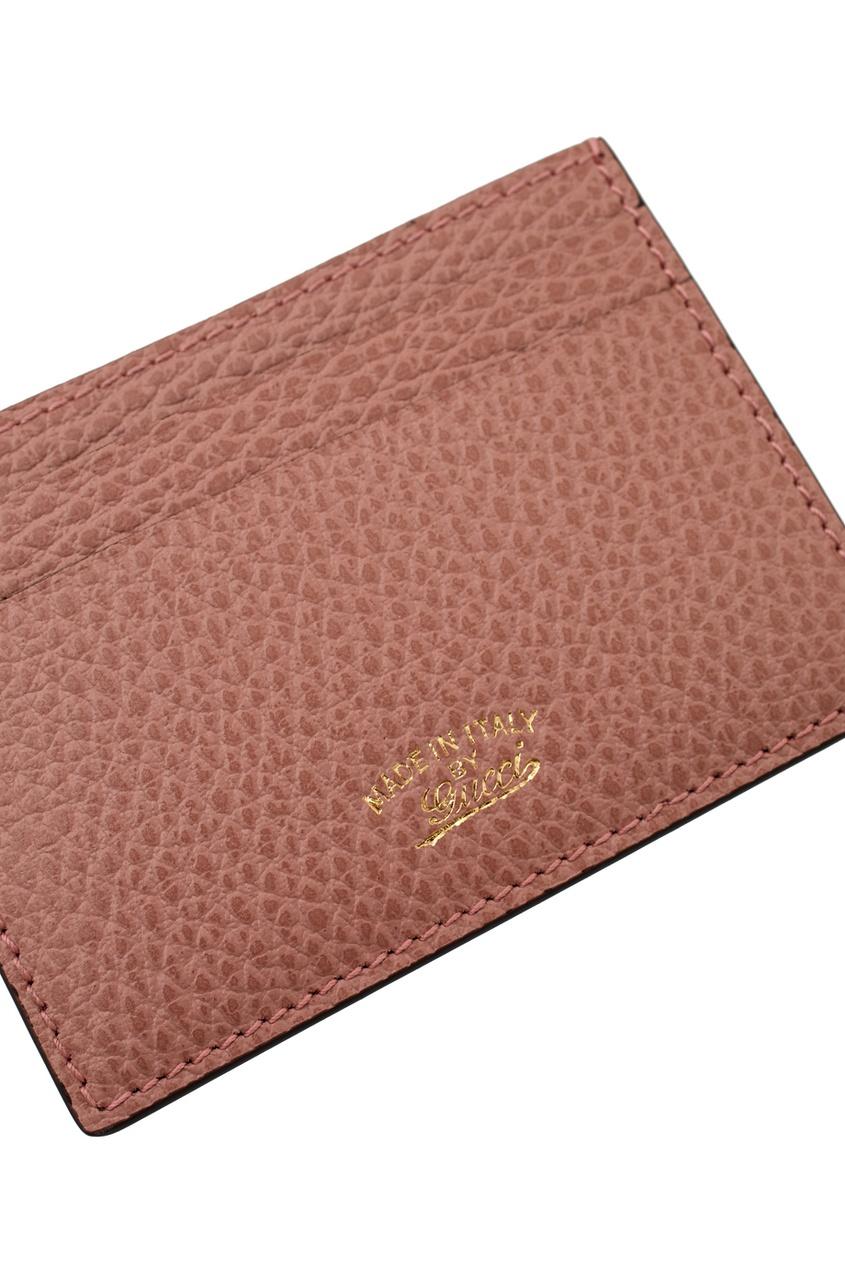 Фото 3 - Кожаная визитница от Gucci коричневого цвета
